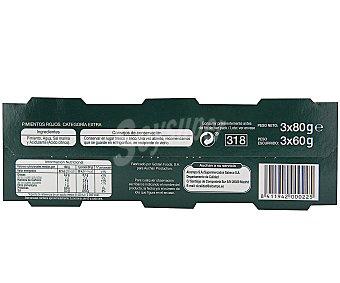 Auchan Pimientos rojos categoría extra Pack de 3 unidades de 60 gramos