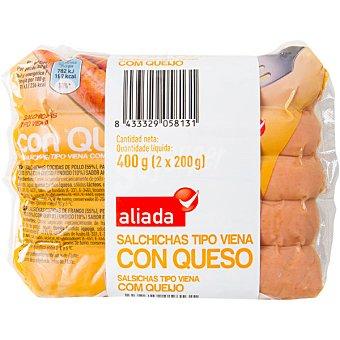 ALIADA Salchichas tipo Viena 2 envases de 200 g