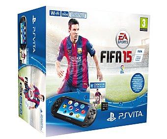 Sony Cónsola Playstation Vita Modelo 2000 con Tarjeta de Memoria de 4Gb + Juego FIFA 15 1 Unidad