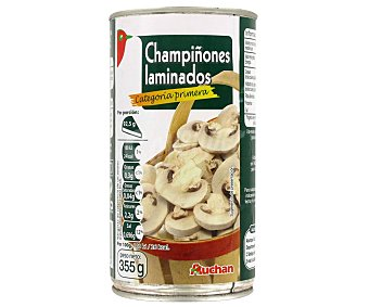 Auchan Champiñones laminados Lata de 185 g