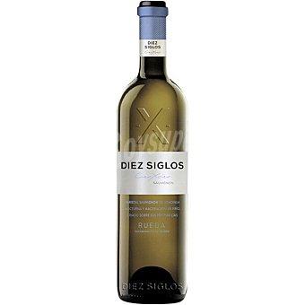 Diez Vino blanco sauvignon blanc 100% D.O. Rueda siglos Botella 75 cl