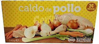 Hacendado Caldo deshidratado pastillas pollo Caja 24 pastillas