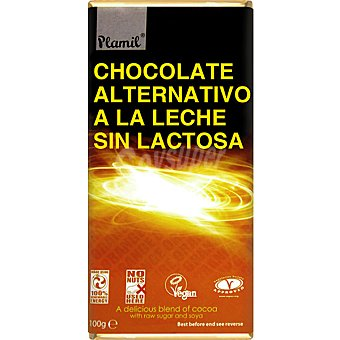 Plamil Chocolate alternativo a la leche sin lactosa Tableta 100 g
