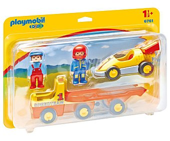 Playmobil Conjunto de juego Coche de carreras con camión, incluye figuras 1.2.3 6961 playmobil 123 6761