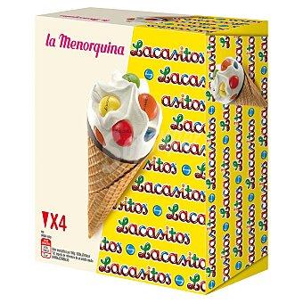 Menorquina Conos con Lacasitos La Menorquina 4 ud
