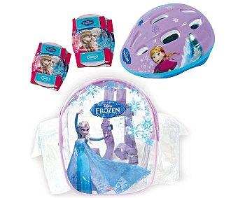 Disney Casco, 2 Coderas y 2 Rodilleras Infantiles, Frozen 1u