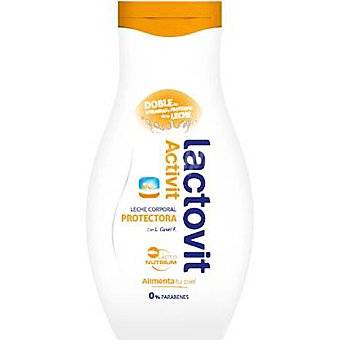 LACTOVIT Activit Leche corporal protectora con doble de vitaminas y proteínas de la leche Frasco 400 ml
