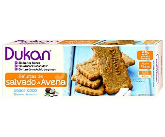 DUKAN Galletas de salvado de avena sabor coco con edulcorantes 225 gramos
