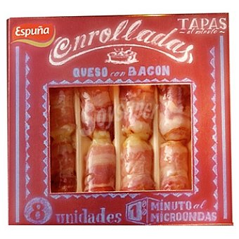 Espuña Tapas enrolladas de queso con bacon Envase 80 g 8 unidades