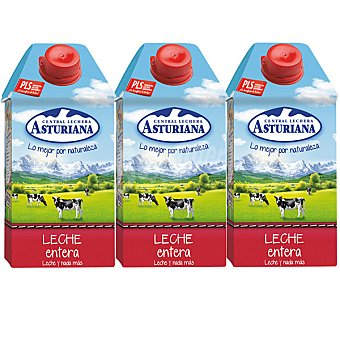 Central Lechera Asturiana Leche Entera Pack 4x50 cl
