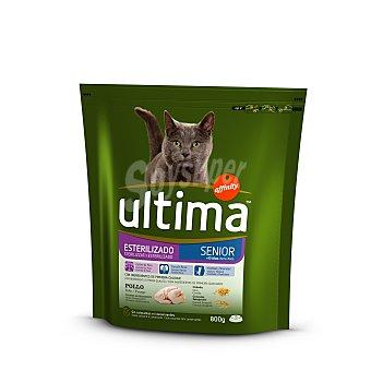 Ultima Affinity Alimento para gatos de + 10 años con pollo y cebada Senior esterilizado Bolsa de 800 g