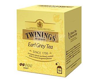 Twinings Té Earl Grey (té negro aromatizado con bergamota) 10 uds. 20 g