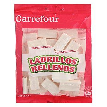 Carrefour Caramelo ladrillo blanco relleno rojo 200 g