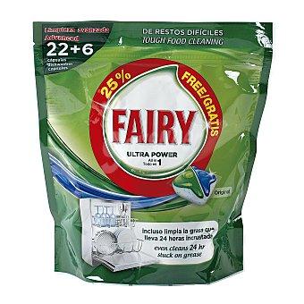 Fairy Lavavajillas máquina ultra power en cápsulas bolsa 22 + 6 uds Bolsa 22 + 6 uds