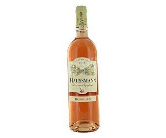 HAUSSMANN Vino rosado de Francia bourdeaux Botella de 75 Centilitros
