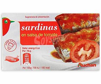 Auchan Sardinas con tomate 78 gramos