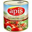 Tomate natural entero pelado apis, lata 780 G Lata 780 g Apis