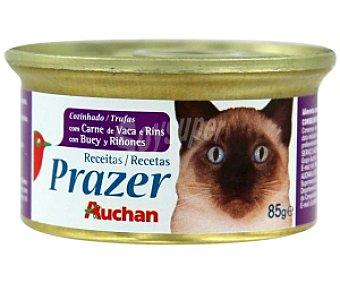 Auchan Comida para gatos con carne de vaca y riñones 85 Gramos