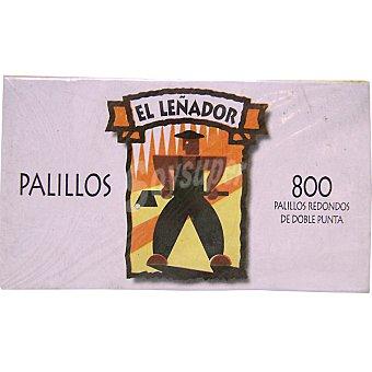LEÑADOR palillos redondos de doble punta paquete 800 unidades