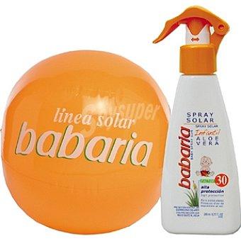Babaria leche solar infantil FP-20 espray + regalo balón de playa 200 ml