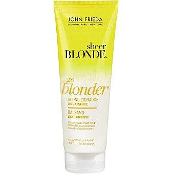 JOHN FRIEDA Sheer Blonde Go Blonder Acondicionador aclarador pelo rubio Frasco 250 ml