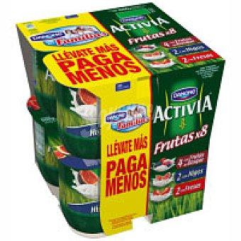 Danone Activia de frutos del bosque-fresa-higos 6 unidades de 125 g