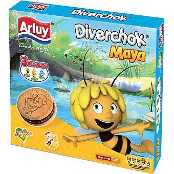 ARLUY MINIS Diverchok Maya Galletas rellenas de chocolate Estuche 180 g
