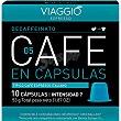 Café espresso intensidad media Decaffeinato 05 compatible con máquinas Nespresso 10 cápsulas Viaggio espresso