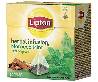 LIPTON Infusión Morocco menta con regaliz 20 Sobres de 2 Gramos
