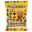 Grageas de colores con chocolate Pack de 4 uds. de 80 g Lacasitos Lacasa