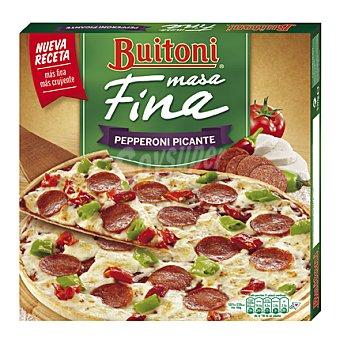 Buitoni Pizza de pepperoni picante masa fina 320 g