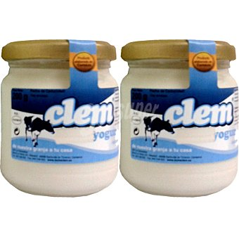 CLEM Yogur natural Pack 2 unidades 200 g