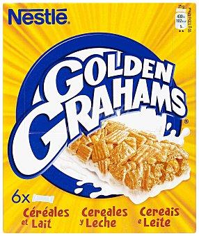 Golden Grahams Nestlé Barritas de cereales  y leche Pack de 6x25 gr