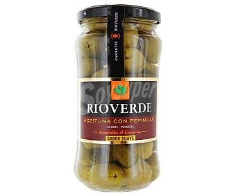 Rioverde Aceitunas gordal rellenas de pepinillo Frasco 180 g neto escurrido