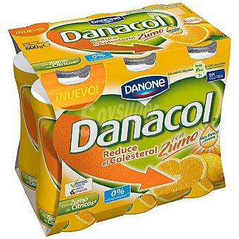 Danacol Danone Zumo citricos 6 X 100 GRS