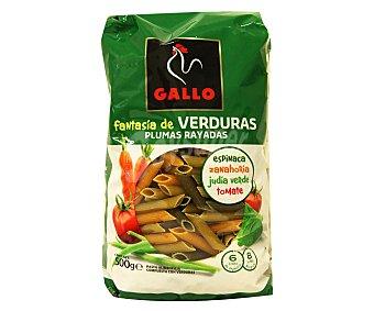 Gallo Pasta plumas verdura V 500 GRS