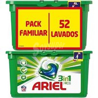 Ariel Detergente regular en cápsulas 3n1 Caja 52 dosis