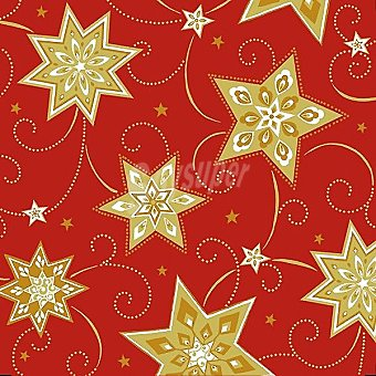 PAP STAR servilletas Just Stars color rojo 3 capas 25x25 cm  paquete 20 unidades