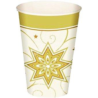 Papstar Vaso cartón Just Stars color crema paquete 10 unidades 20 cl
