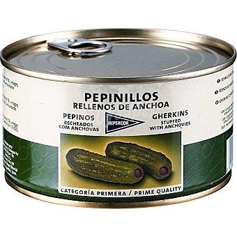 Hipercor Pepinillos rellenos de anchoa Lata 150 g neto escurrido
