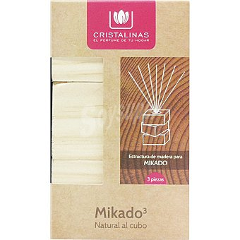 Cristalinas Wood 6 kit 3 estructura para Mikado Cristalinas Natural Wood
