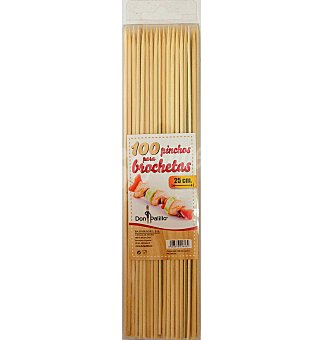 Don Palillo Brochetas 25 cm 100 unidades