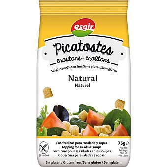 ESGIR Picatostes naturales sin gluten  envase 75 g