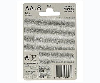 Auchan Paquete de 8 pilas alcalinas del tipo AA o LR06 auchan 8u