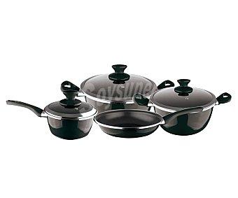 MAGEFESA Fit Batería de cocina de acero esmaltado de 4 piezas y 2 tapas Fit MAGEFESA.