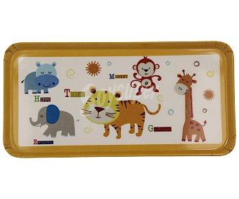 TABERSEO Bandeja infantil rectangular con animales, 24x12 centímetros 1 unidad