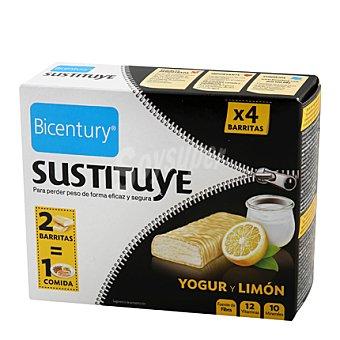 Bicentury Barritas sabor yogur limón 'devoragras' 4 barritas (210 g)