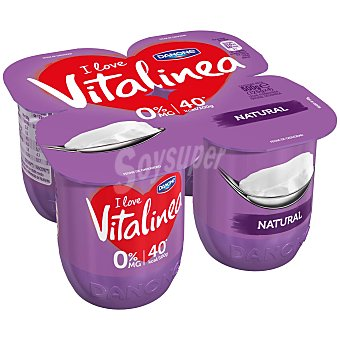 Vitalinea Danone Vitalínea natural 4 unidades de 125 g