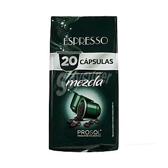 Prosol Cafe cápsula mezcla Paquete 20 uds