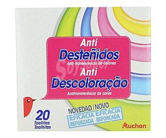 Auchan Toallitas atrapacolor, anti desteñidos 20 unidades